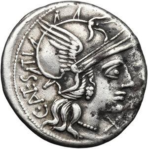 obverse: C. Antestius.. AR Denarius, 146 BC