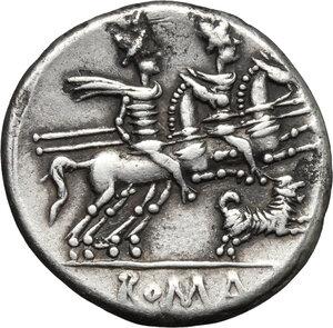 reverse: C. Antestius.. AR Denarius, 146 BC