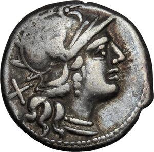 obverse: C. Valerius Flaccus.. AR Denarius, 140 BC