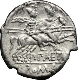 reverse: P. Aelius Paetus.. AR Denarius, 138 BC