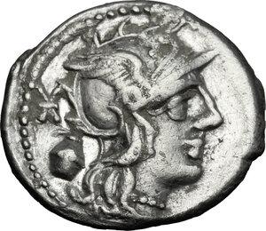 obverse: C. Cassius.. AR Denarius, 126 BC