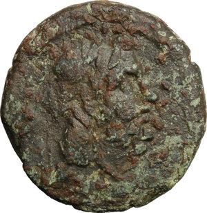 obverse: Southern Apulia, Brundisium. AE Semis (semuncial standard), c. 200 BC