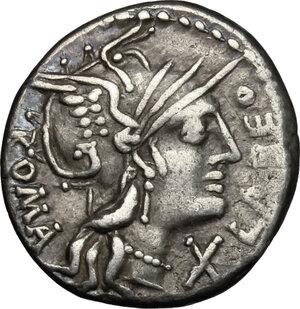 obverse: Q. Fabius Labeo.. AR Denarius, 124 BC