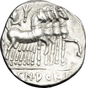 reverse: Cn. Domitius Ahenobarbus.. AR Denarius, 116-115 BC