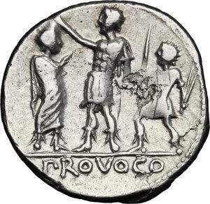 reverse: P. Laeca. AR Denarius, circa 110-109 BC