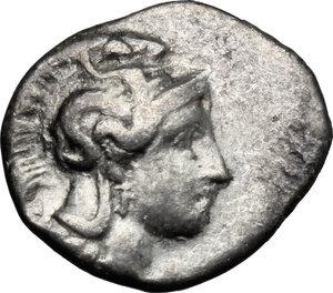 obverse: Southern Apulia, Tarentum. AR Diobol, 380-325 BC