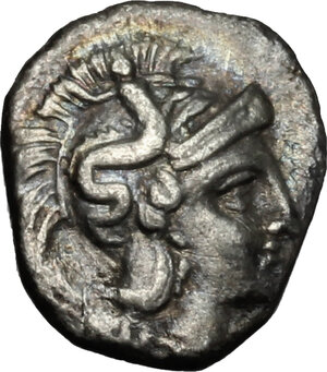 obverse: Southern Apulia, Tarentum. AR Diobol, circa 380-325 BC