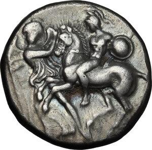 obverse: Southern Apulia, Tarentum. AR Nomos, circa 280 BC