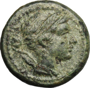 obverse: Lucania, Poseidonia-Paestum. AE Uncia, 218-201 BC