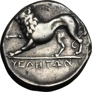 reverse: Northern Lucania, Velia. AR Nomos, circa 334-300 BC