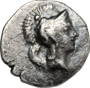 obverse: Southern Lucania, Heraclea. AR Diobol, 340-330 BC