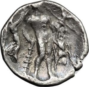reverse: Southern Lucania, Heraclea. AR Diobol, 340-330 BC