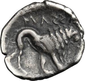 reverse: Gaul, Massalia. AR Drachm, 2nd half of 3rd century BC