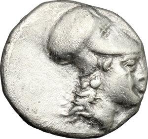 obverse: Southern Lucania, Metapontum. AR Diobol, 325-275 BC