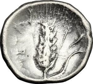 reverse: Southern Lucania, Metapontum. AR Diobol, 325-275 BC