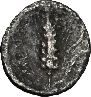 reverse: Southern Lucania, Metapontum. AR Diobol, circa 325-275 BC