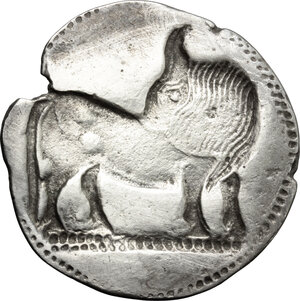 reverse: Southern Lucania, Sybaris. AR Stater, 550-510 BC