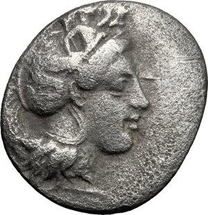 obverse: Southern Lucania, Thurium. AR Triobol, c. 400-350 BC