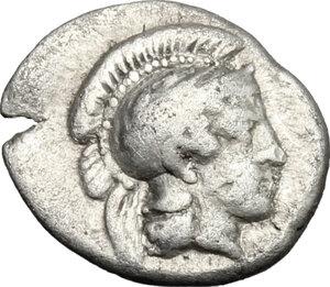 obverse: Southern Lucania, Thurium. AR Triobol, c. 350-300 BC