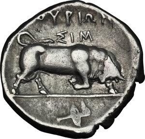 reverse: Southern Lucania, Thurium. AR Nomos, c. 350-300 BC