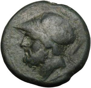 obverse: Bruttium, The Brettii. AE Didrachm, 214-211 BC
