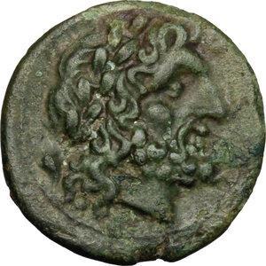 obverse: Bruttium, The Brettii. AE Unit, 214-211 BC