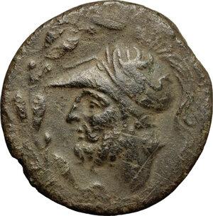 obverse: Bruttium, Brettii. AE Double unit, 208-203 BC