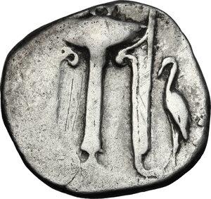 obverse: Bruttium, Kroton. AR Stater, 480-430 BC