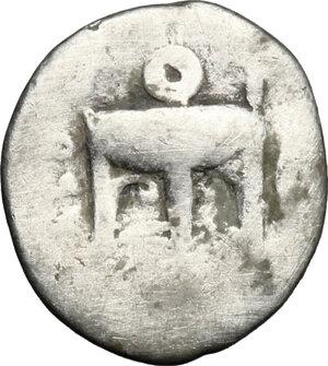 obverse: Bruttium, Kroton. AR Triobol, c. 400-350 BC