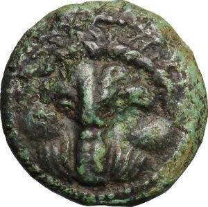 obverse: Bruttium, Rhegion. AE 15mm, 351-280 BC