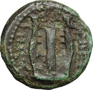 reverse: Bruttium, Rhegion. AE 15mm, 351-280 BC
