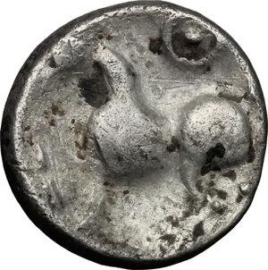 reverse: Celtic, Eastern Europe. AR Drachm type Kugelwange, 2nd-1st century BC