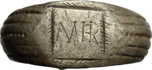 obverse: Silver ring, the blezel engraved with inscription \