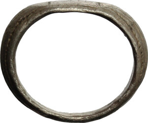 reverse: Silver ring, the blezel engraved with inscription \