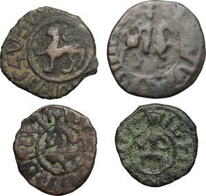 obverse: Armenia.  Levon II (1270-1289). Lot of 4 AE crusaders coins
