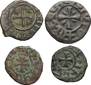 reverse: Armenia.  Levon II (1270-1289). Lot of 4 AE crusaders coins