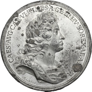 obverse: Austria.  Karl VI (1711-1740).. Tin Medal, 1716