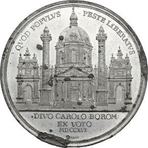 reverse: Austria.  Karl VI (1711-1740).. Tin Medal, 1716