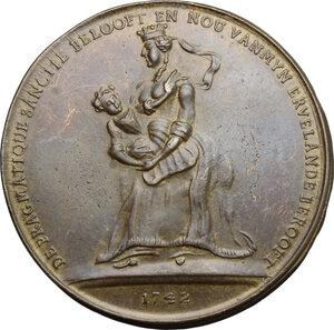 obverse: Austria.  Maria Theresia (1740-1780).. AE Medal, Austrian Netherlands, 1742