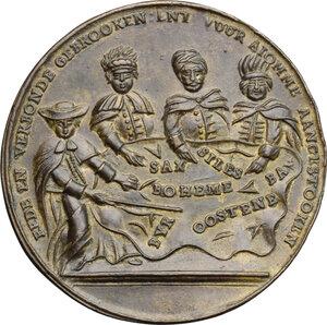 reverse: Austria.  Maria Theresia (1740-1780).. AE Medal, Austrian Netherlands, 1742