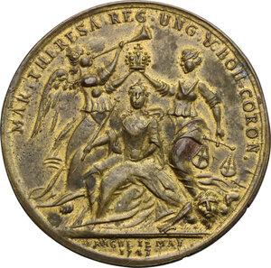 obverse: Austria.  Maria Theresia (1740-1780).. AE Medal 1743, Prague mint