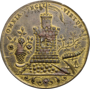 reverse: Austria.  Maria Theresia (1740-1780).. AE Medal 1743, Prague mint