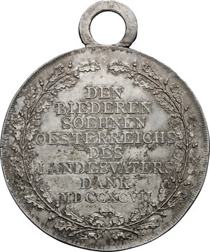 reverse: Austria.  Franz II/I (1792-1805-1835).. AR Medal of merit, 1797