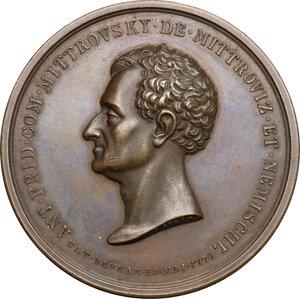 obverse: Austria.  Anton Friedrich Graf Mittrowsky von Mittrowitz und Nemischl (1770-1842).. AE Medal, 1841