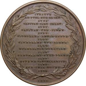 reverse: Austria.  Anton Friedrich Graf Mittrowsky von Mittrowitz und Nemischl (1770-1842).. AE Medal, 1841