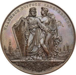 obverse: Belgium. AE Medal, Gent, 1847