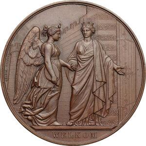 obverse: Belgium. AE Medal, Antwerp, 1861
