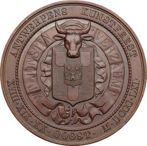 reverse: Belgium. AE Medal, Antwerp, 1861