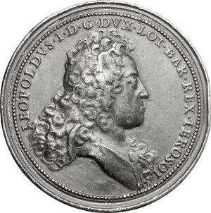 obverse: France.  Leopold I (1690-1729).. Tin Medal, 1726
