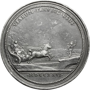 reverse: France.  Leopold I (1690-1729).. Tin Medal, 1726